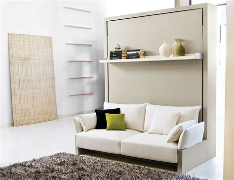 canapé convertible compact transformable murphy bed sofa systems that save up on