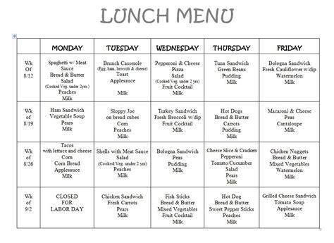 menu victor child care center 392 | aug lunch menu