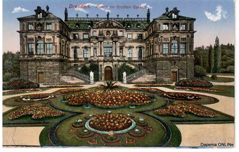 Der Große Garten Dresden by Palais Im Gro 223 En Garten 1920 Dresden Postkarte Kw 09 10