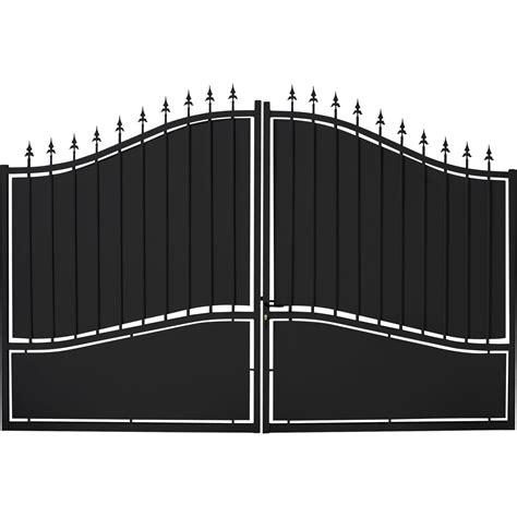 facade porte cuisine brico depot portail battant fer tangara noir l 300 x h 212 cm leroy merlin