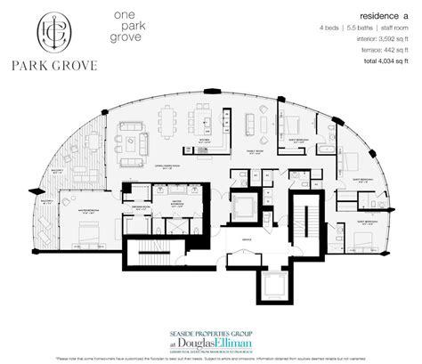 park grove floor plans luxury waterfront condos  miami