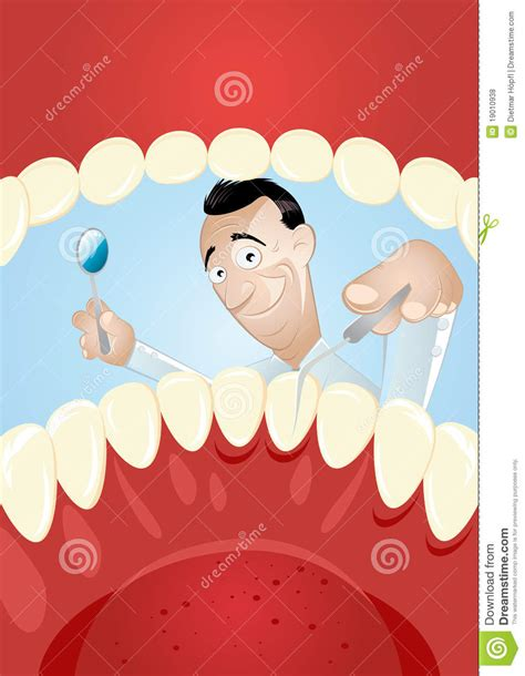 interno bocca dentista fumetto all interno della bocca illustrazione