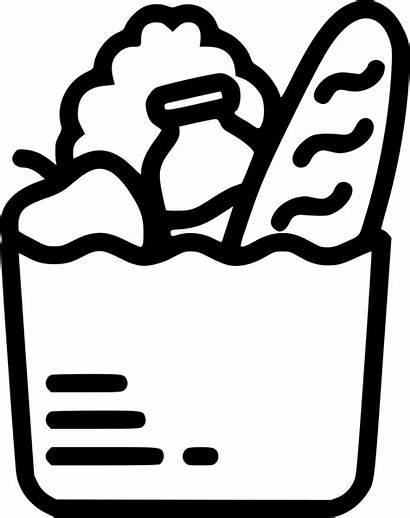 Grocery Clipart Svg Transparent Bag Icon Webstockreview