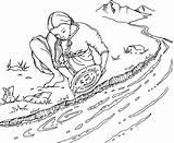 Rush Gold Panning Coloring Mining Pages Clipart Australian Line Drawing Clip Google Stockade Eureka Spot Cliparts sketch template