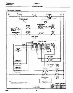 Wiring Diagram Diagram  U0026 Parts List For Model Tef387ccta