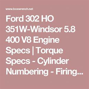 Ford 302 Ho 351w