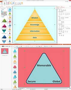 Dikw Pyramid  3d Triangle Diagram