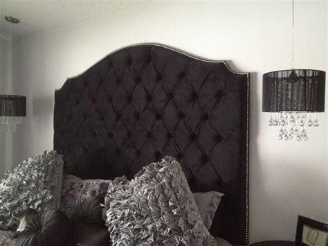 black velvet diamond tufted elongated cavendish shape