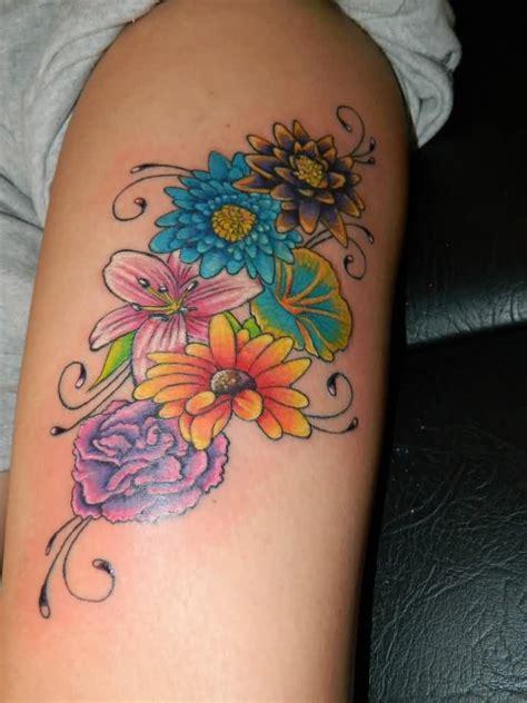 ideas  flower thigh tattoos  pinterest thigh tat side thigh tattoos  thigh