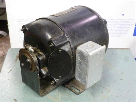 Wagner Electric Motors by Vintage Wagner 115 Vdc Dc Electric Motor 1 6 Hp Antique