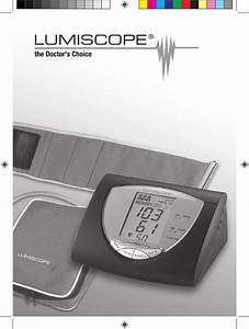 Lumiscope Blood Pressure Monitor 1157 User Guide
