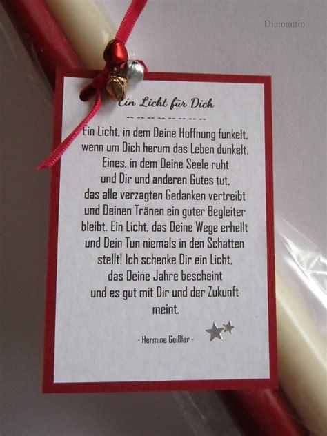 Gedicht Kerze Licht by 2 Kerzen Mit Dem Gedicht Ein Licht F 252 R Dich Kerzen