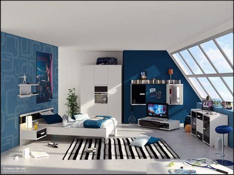blue based teenage boy bedroom meets white furniture boy