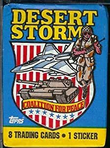 Military officers, weapons, and hardware. Amazon.com: 1991 Topps Desert Storm Coalition For Peace Trading Card Pack - 8 cards per pack ...