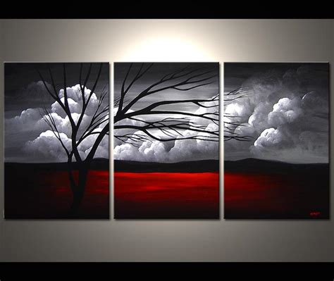 painting multi panel canvas clouds 3807