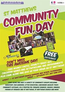 new partnerships in st matthews speak up preston With fun day poster template