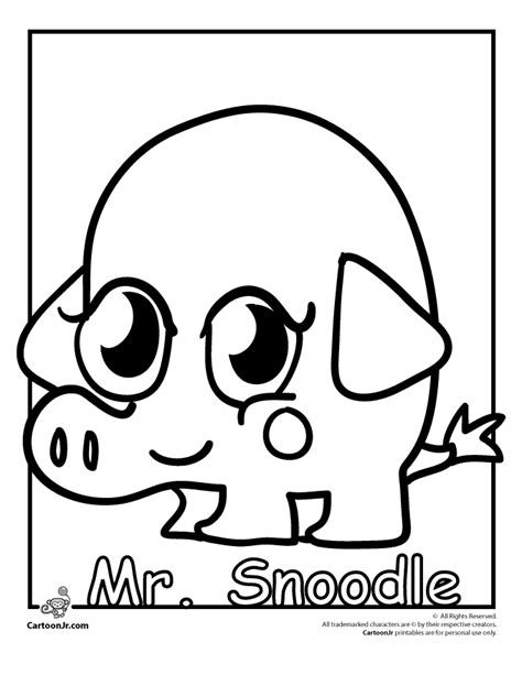 moshi monster coloring pages coloring pages
