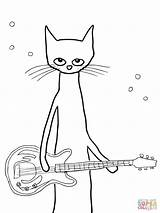 Pete Cat Coloring Pages Printable Christmas Printables Cats Warrior Print Saves Dot Easy Popular Colorin sketch template