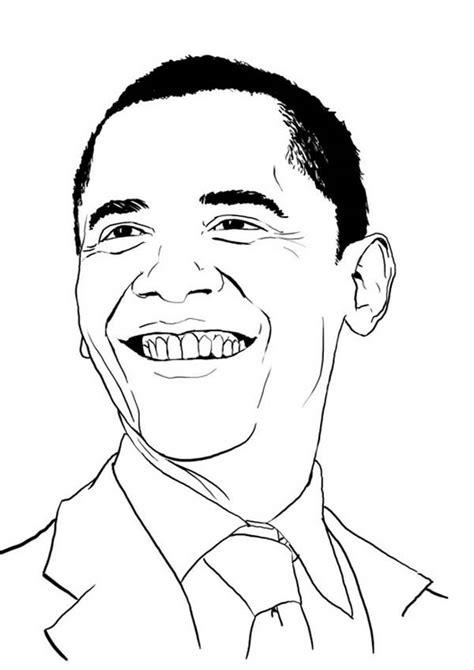 barack obama coloring page getcoloringpagescom