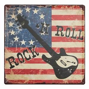 Plaque Vintage Metal : rock and roll tin sign vintage metal plaque poster bar pub home wall decor ~ Teatrodelosmanantiales.com Idées de Décoration