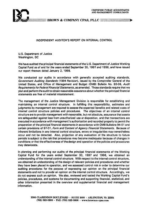 audit report audit report 98 08a