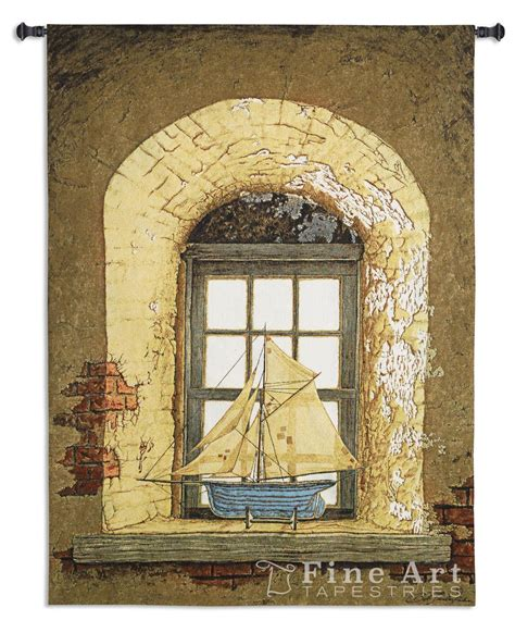 lighthouse tapestry wall hanging lighthouse window tapestry wall hanging h53 quot w38 quot