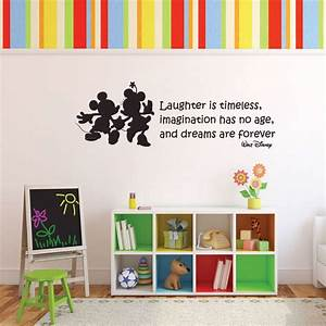vinyl wall decal walt disney quote with mickey mouse With inspirational disney sayings wall decals