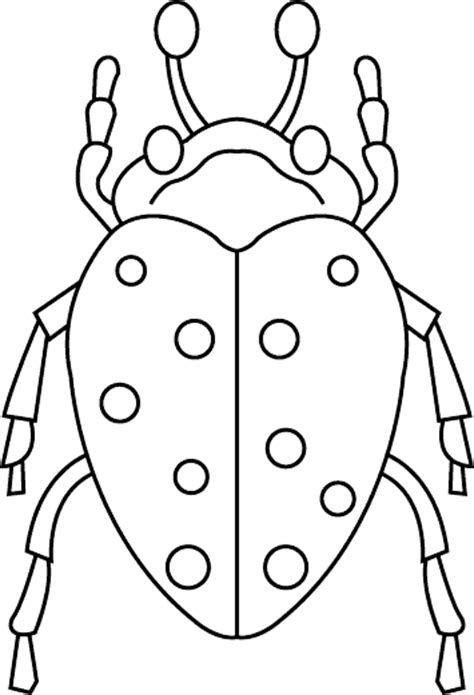 bug template insect coloring pages for children