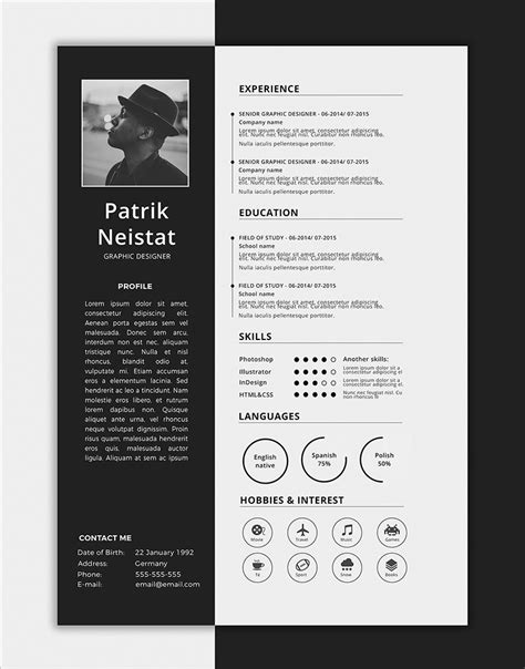 Free Simple Resume Templates by 10 Fresh Free Resume Cv Design Templates 2018 In Word