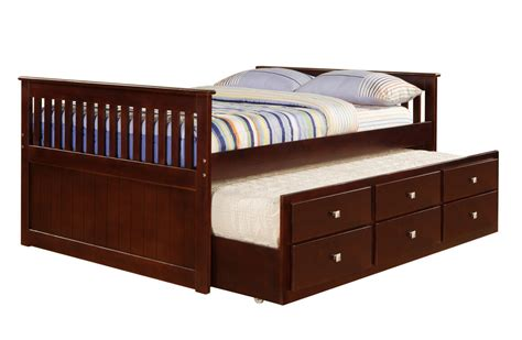 Bed With Drawers by Captain S Bed With Trundle And Drawers Includes Free