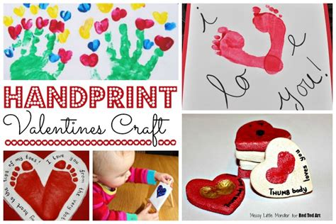 crafts for preschoolers ted s 465 | Handprint Valentines