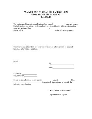 Partial Lien Waiver Template by Bill Of Sale Form Indiana Partial Waiver Of Lien Templates