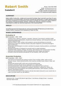 Maintenance Resume Example Custodian Resume Samples Qwikresume