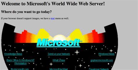 le site web de microsoft fête ses 20 ans découvrez sa première version