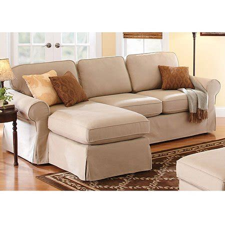sectional covers walmart better homes and gardens slip cover chaise sectional