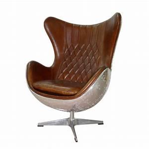 Fauteuil Cuir Marron Vintage : fauteuil vintage en cuir marron harbor maisons du monde ~ Teatrodelosmanantiales.com Idées de Décoration