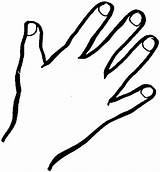 Outline Coloring Hand Finger Hands Handprint Middle Sheet Template Right Sky Pages Printable Wash Clipart Prayer Clip Sheets Draw Clipartmag sketch template