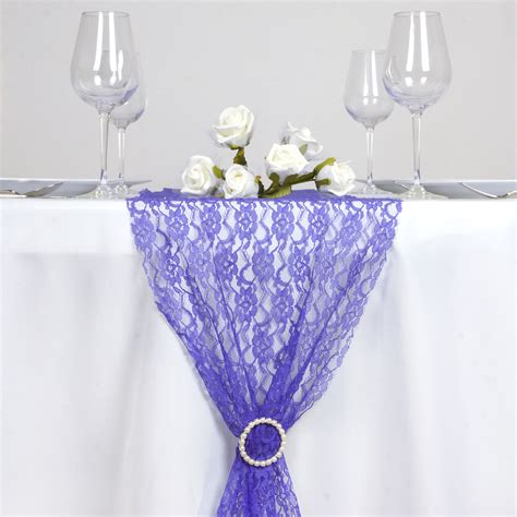 royal blue table decorations royal blue floral lace 14 quot x 108 quot table runner wedding