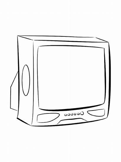 Coloring Tv Pages Printable Mycoloring Televizor Window