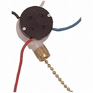 Atron - 3-speed Ceiling Fan Switch With Pull Chain