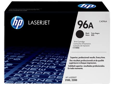 toner hp 96a black original hp 96a black original laserjet toner cartridge c4096a