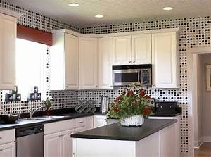 cozier sense with kitchen wall tile designs home interiors With kitchen colors with white cabinets with polka dot wall art