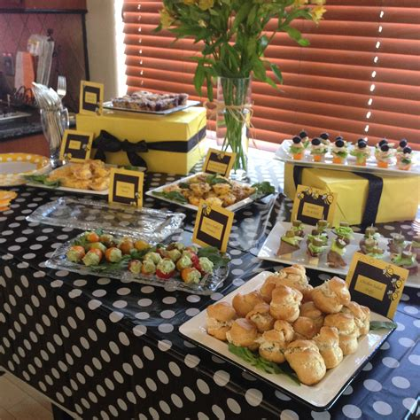 bee themed baby shower decorations table decorating ideas