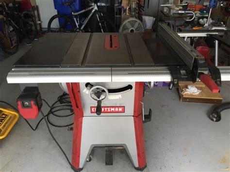 craftsman  contractor table    sale