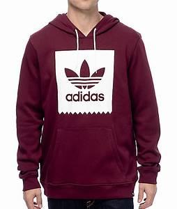 Adidas hoodie vinröd