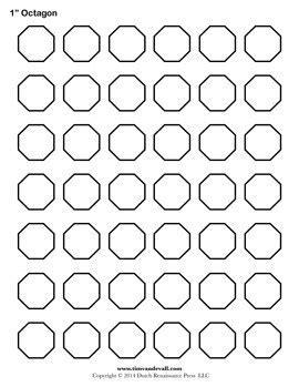 printable octagon templates blank octagon shape pdfs