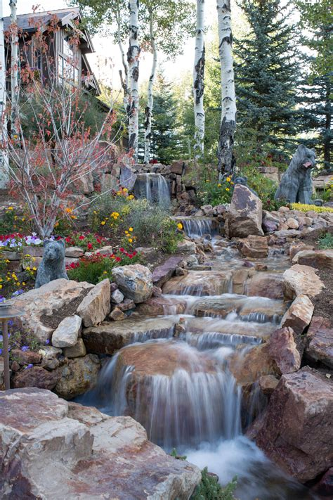 Backyard Waterfalls by 15 Stunning Rustic Landscape Designs That Will Take Your