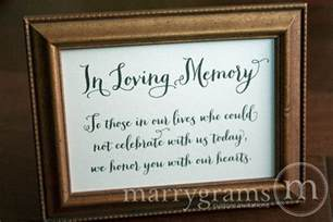 in loving memory sign thick style