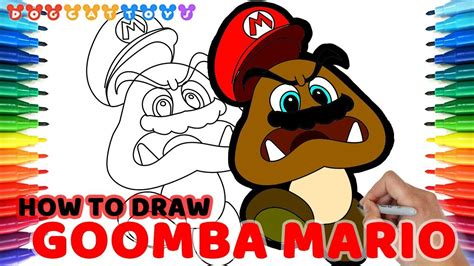 How To Draw Super Mario Odyssey, Goomba Mario #90