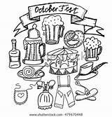 Lederhosen Coloring Oktoberfest Template sketch template